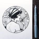 Ink Retro girl