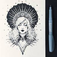 Inktober2019: Image of Maiden: Goddess