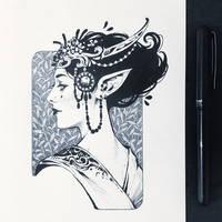 Ink Elven Maiden
