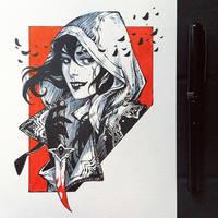 Inktober2019: Image of Maiden: Assassin