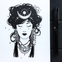 Inktober2019: Image of maiden: Night Maiden