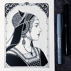 Ink Medieval Lady