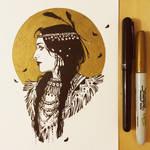 Ink Native American Beauty