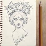 Daily sketch: Flora Goddess