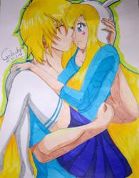 Finn and fionna by camiluchy