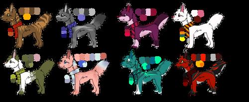 OTA Scarf Dogs (7/8 open) by Loverbirds