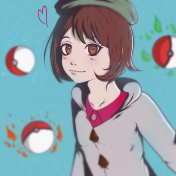 Pokemon Sword and Shield girl trainer by Yasha-Miaou