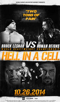 LESNAR VS REIGNS - FANTASY HELL IN A CELL 2014