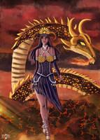 Dragon and Girl by jont-alan