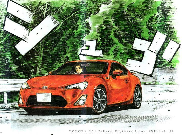 toyota ft86 in initial d by azn069 on deviantart