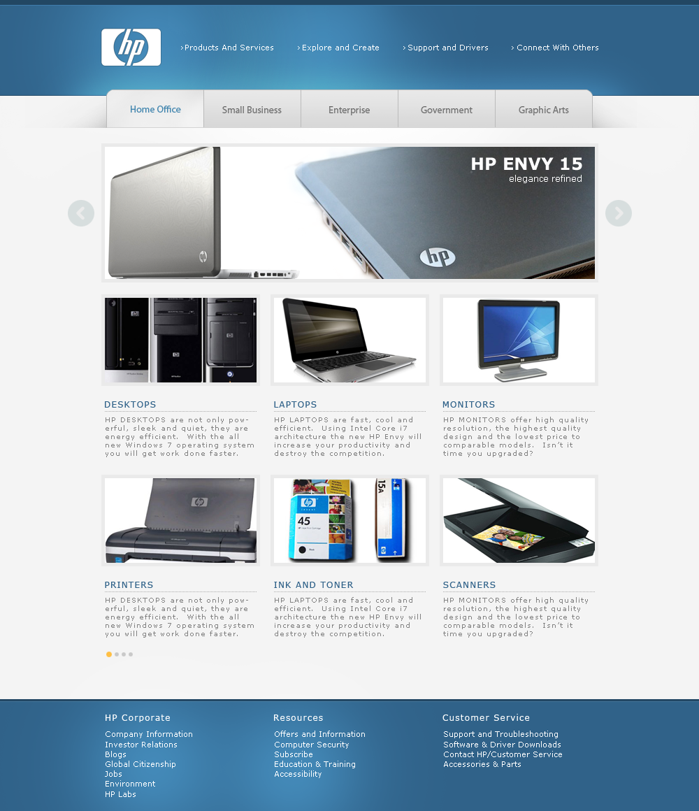 HP Concept Website by WebPope