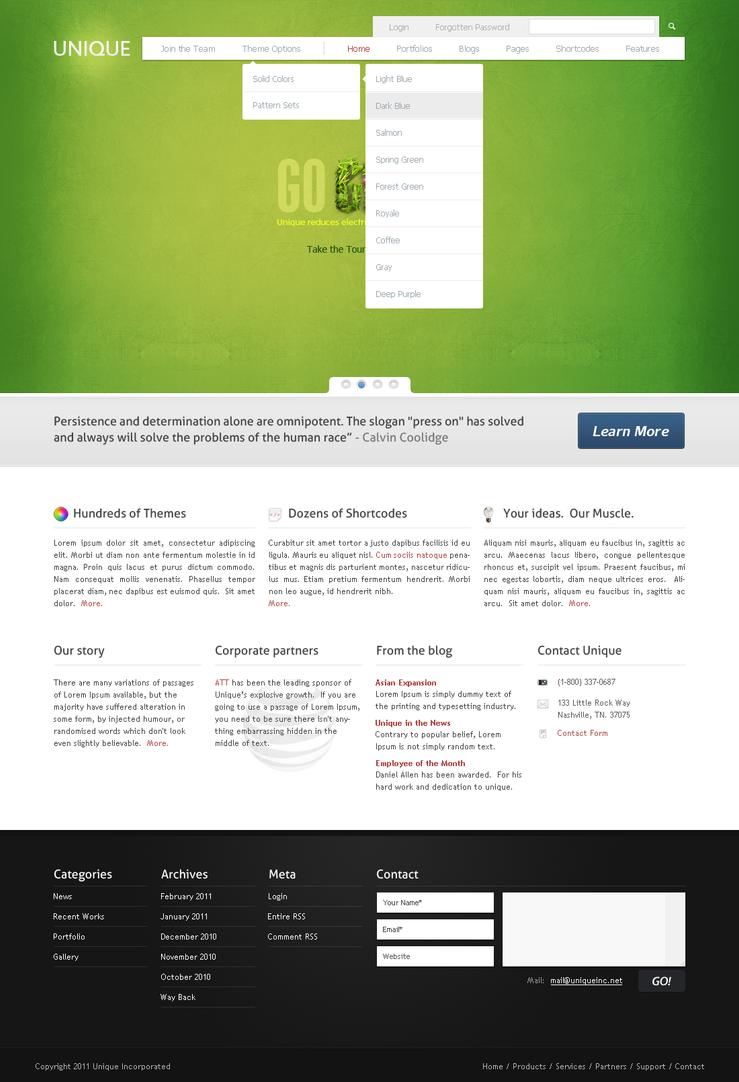 Unique Wordpress Theme by WebPope