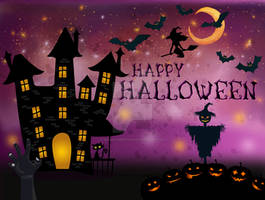 Halloween Night Landscape