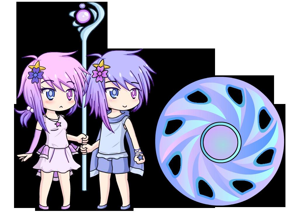 Anime Characters Gemini : Gemini yumi and yuma anime fidget spinner by lunimegames