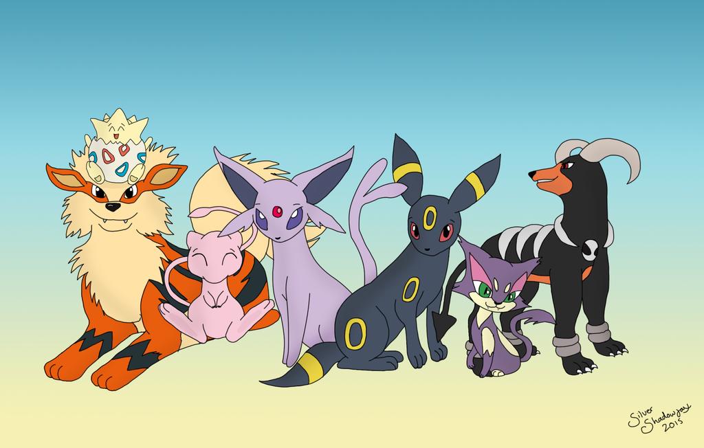 Poke-family - Tsuki Commission. by SilverShadowfax