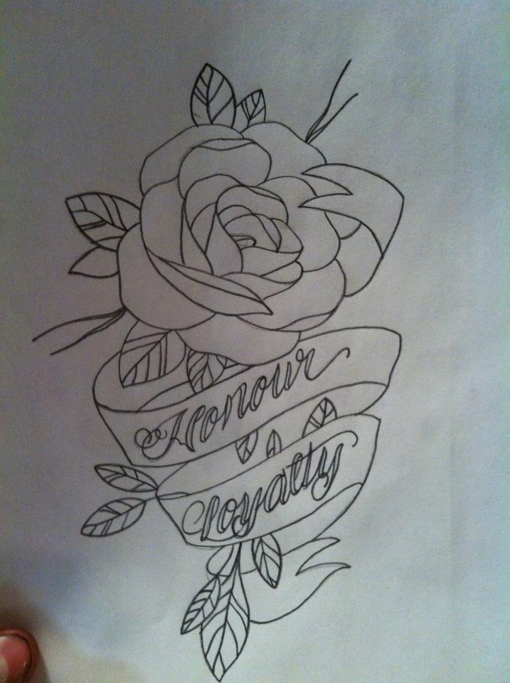 rose banner outline by seanspringer on deviantart