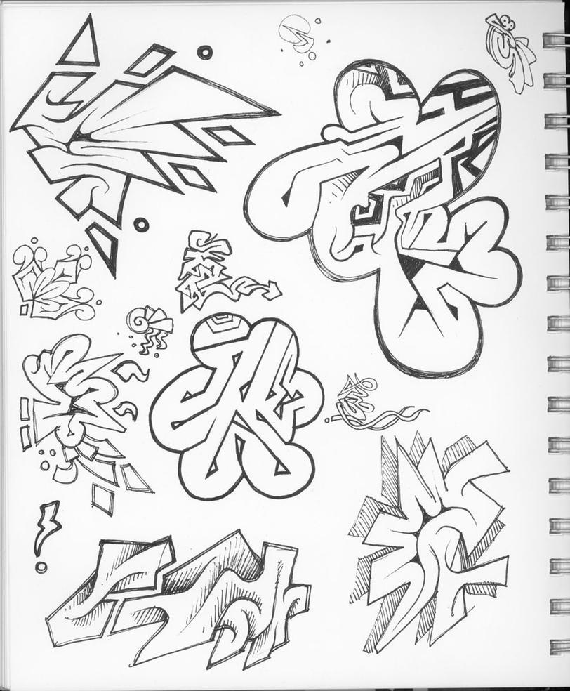 Love Graffiti Sketches Sketch of Graffiti Coloring