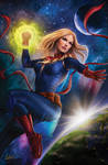 Captain Marvel Cover (prompt)