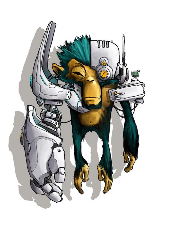 Half Robot by Maieth on DeviantArt