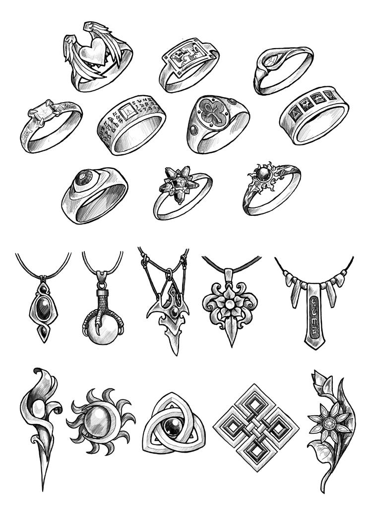 Filler art: Jewellery by Maieth