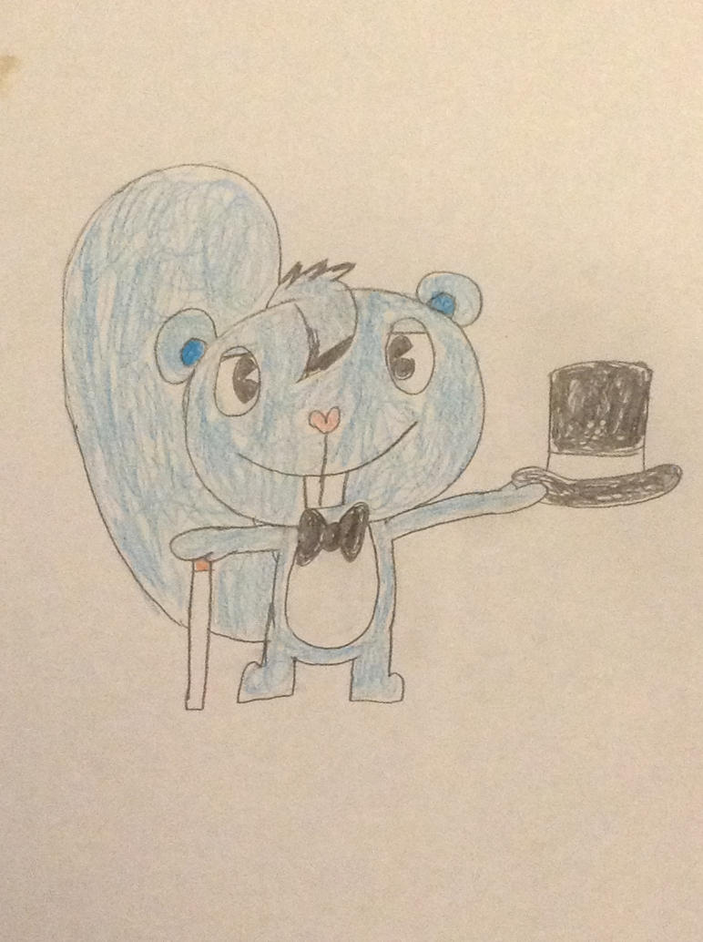 Swirly the blue squirrel by cutebutwrong