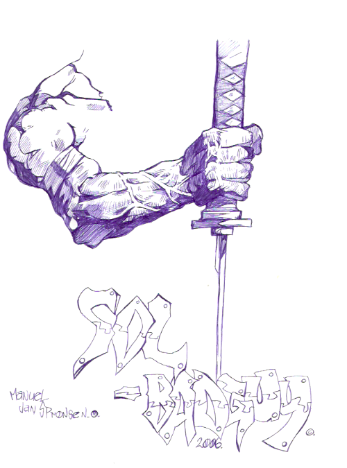 [ClyDeft] Traditional Drawn Art Arm_with_Katana_by_dachivale