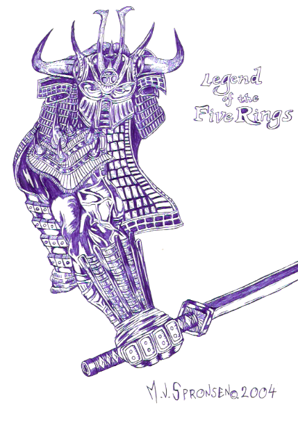 [ClyDeft] Traditional Drawn Art Samurai_by_dachivale