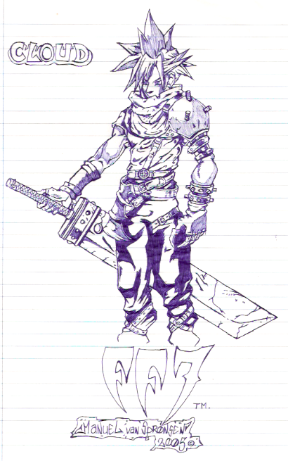 [ClyDeft] Traditional Drawn Art Final_Fantasy_7_Cloud_by_dachivale