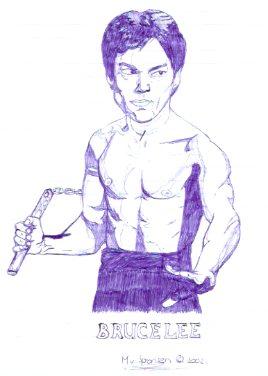 [ClyDeft] Traditional Drawn Art Bruce_lee_by_dachivale