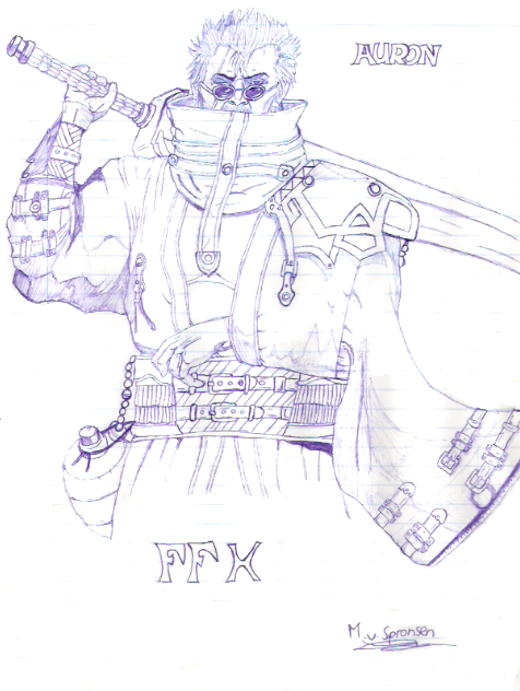 [ClyDeft] Traditional Drawn Art Auron_by_dachivale
