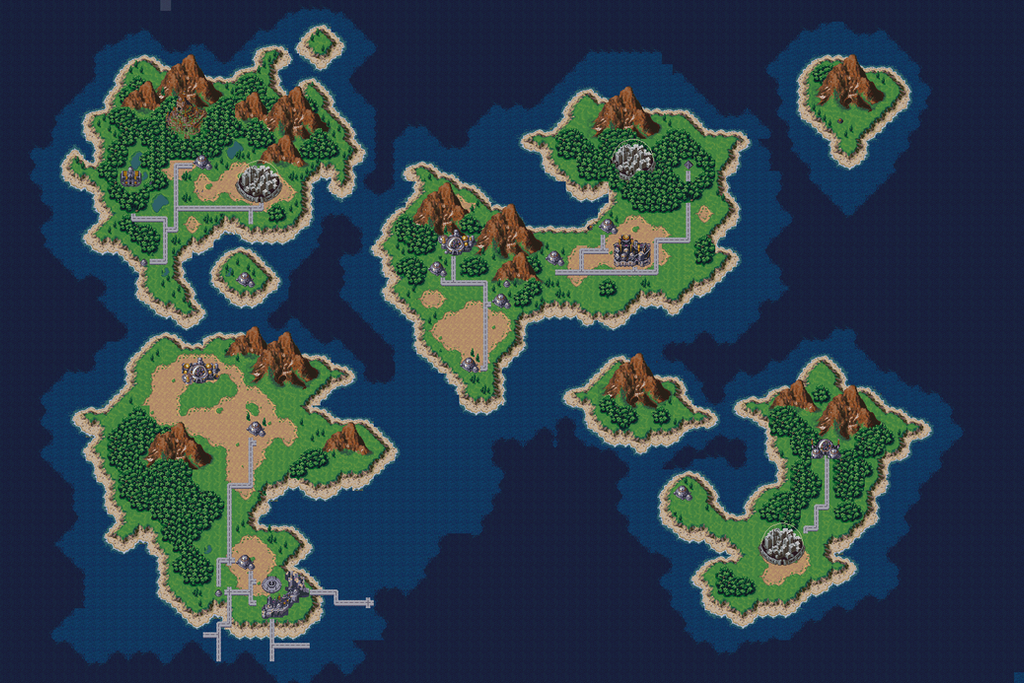 1999 AD Pre  Lavos Chrono Trigger Map by crystalizedchaos on
