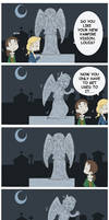 It was a weeping angel xD