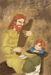 Secret Santa: Andrei's childhood by Miyucchi