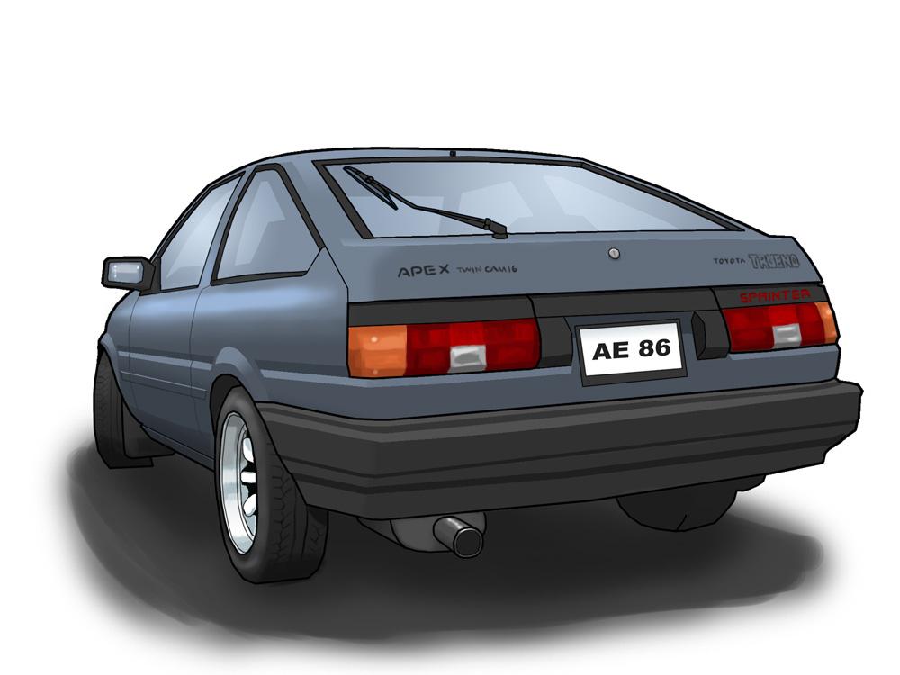 Toyota Sprinter Trueno AE86 by Shraka on DeviantArt