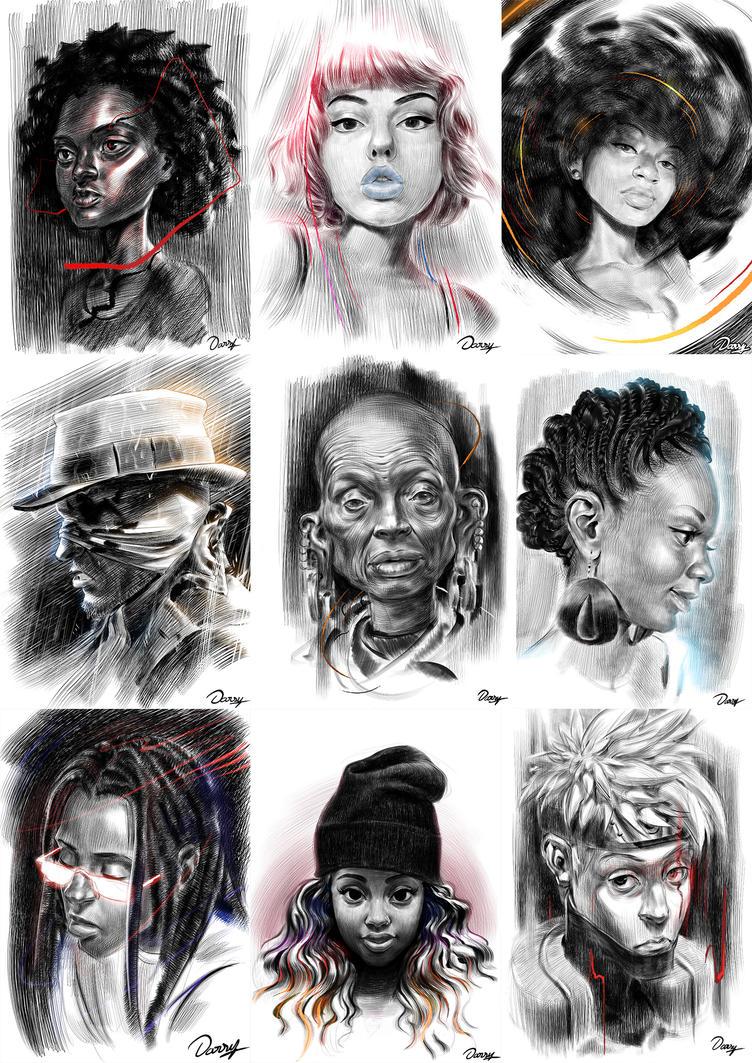 Daily Draw Portraits 2 by Darsy