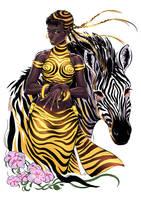 Golden Zebra by Darsy