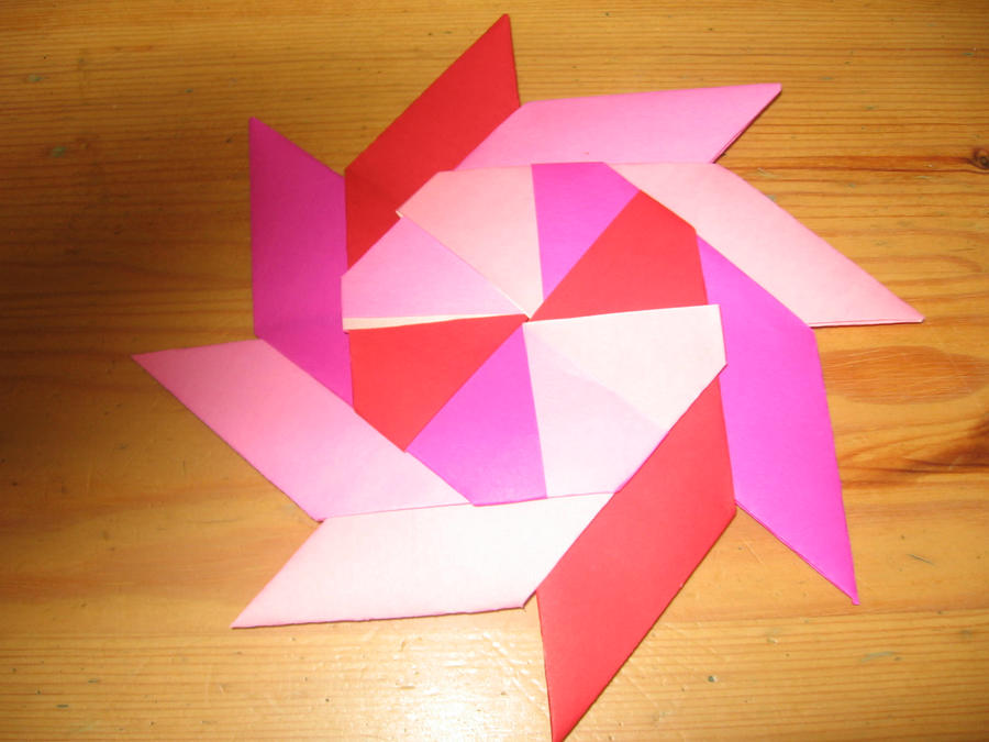 how to make a transforming paper ninja star