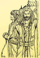 Kili and Fili in Rivendell by vtrvtrn