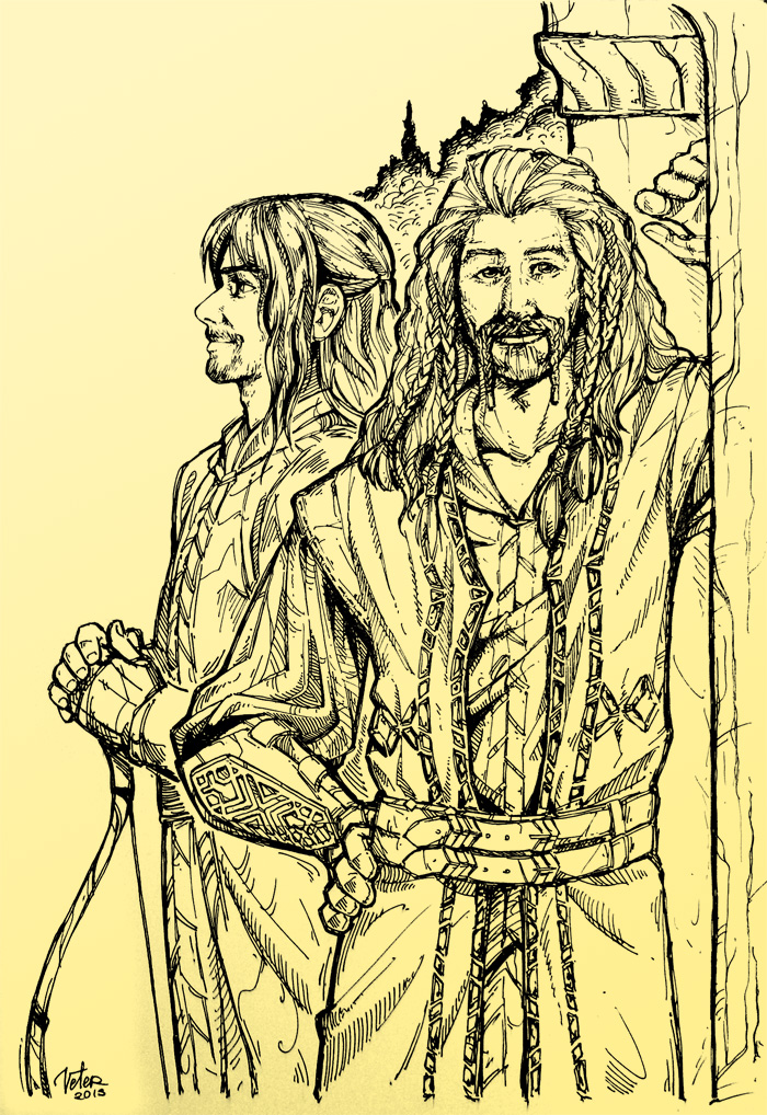 Kili and Fili in Rivendell by vtrvtrn