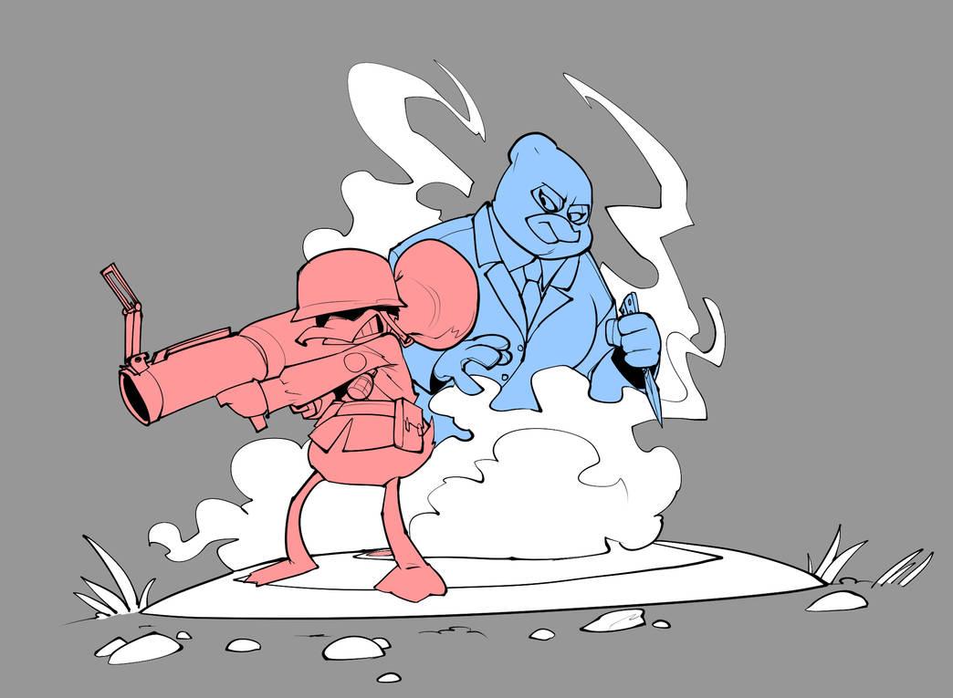 Team Fortress Duck by bigdad