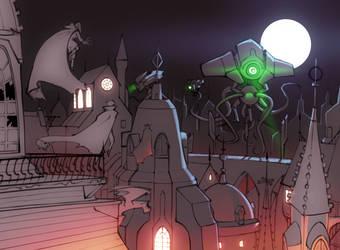 Attack on Vampire City by bigdad