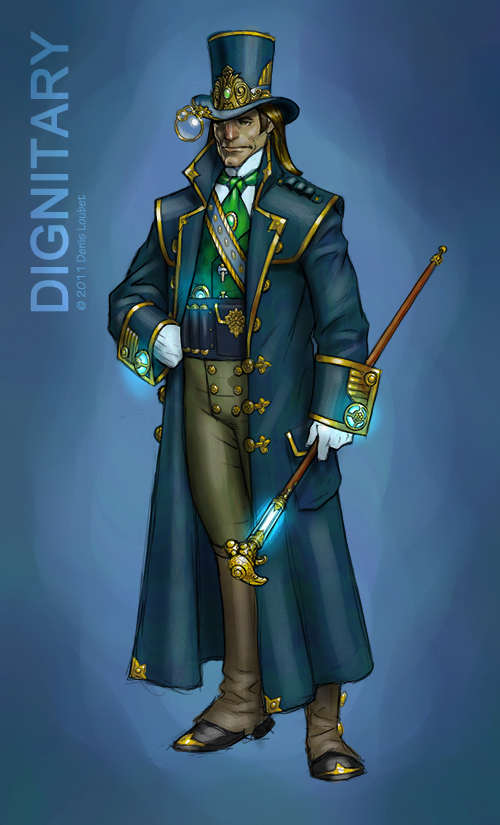 Character Steampunk Concept Art