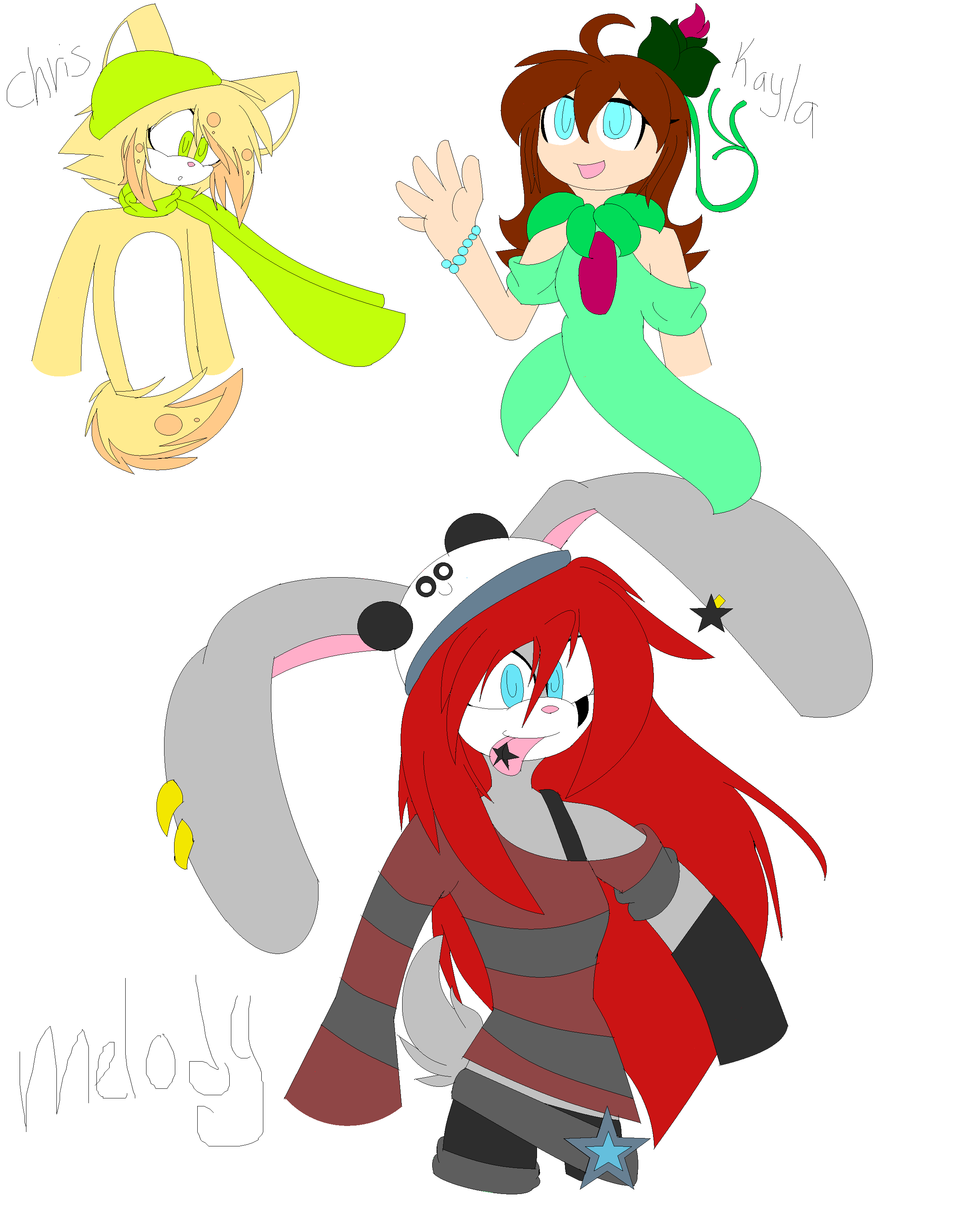 ~New Looks  for meh characters~ by XRayHedgehogX