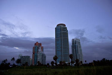Miami at Dusk by blackcat101
