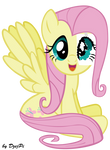 Fluttershy with paper eye