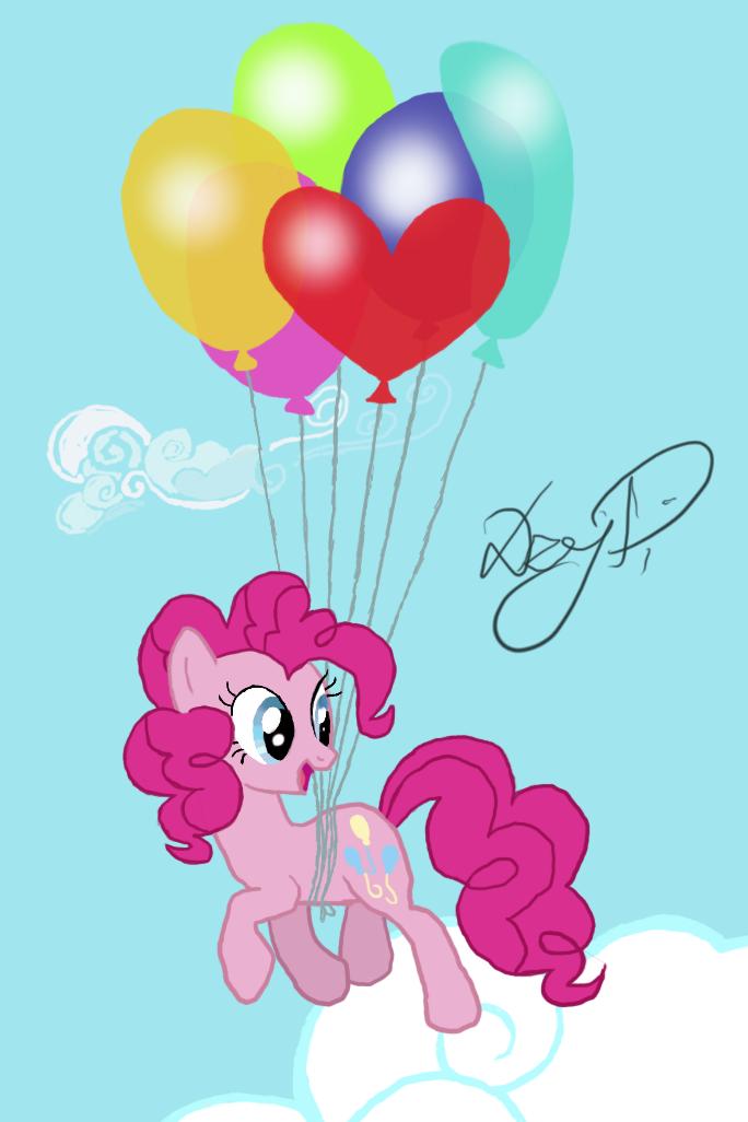 Flying Pinkie Pie by DzejPi