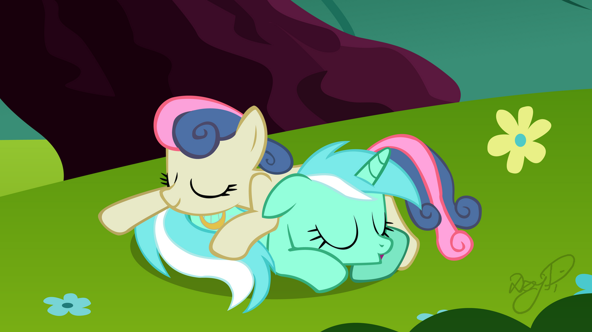 Lyra and Bon Bon - Afternoon Nap by DzejPi