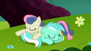 Lyra and Bon Bon - Afternoon Nap