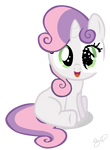 Sweetie Belle with paper eye