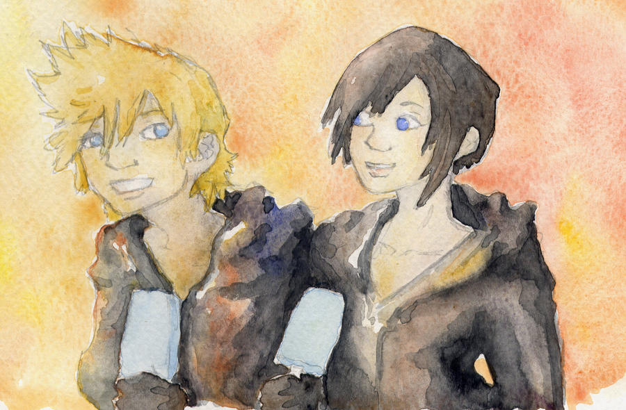 Roxas et Xion by nagettebost